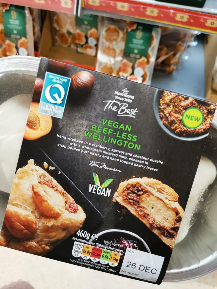 Morrisons Vegan Beef-less Wellington 460g