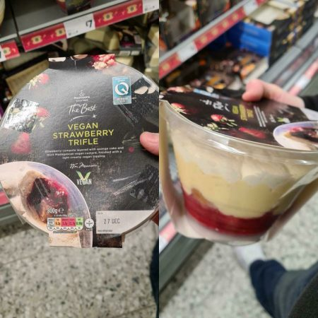 Morrisons Vegan Strawberry Trifle