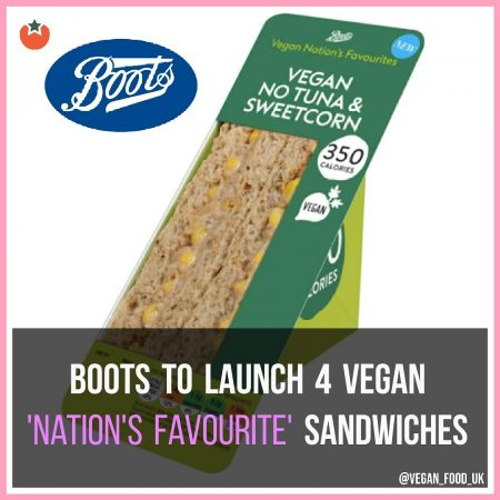 Boots To Launch Four New Vegan Sandwiches