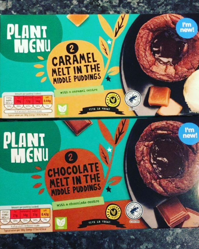 Aldi Plant Menu Melt In The Middle Puddings