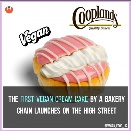 The First Vegan Cream Cake By A Bakery Chain Launches On The High Street