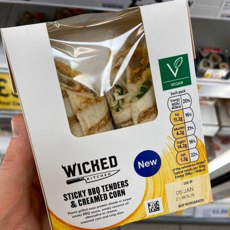 Tesco Wicked Kitchen Sticky BBQ Tenders & Creamed Corn
