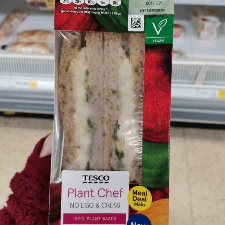 Tesco Plant Chef No Egg & Cress Sandwich