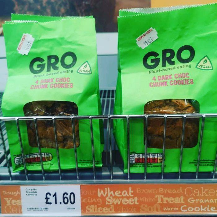 Co-op Gro 4 Dark Chocolate Chunk Cookies