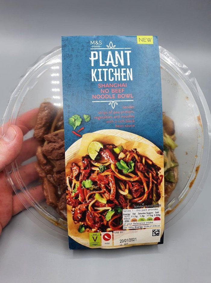 M&S Plant Kitchen Shanghai No Beef Noodle Bowl