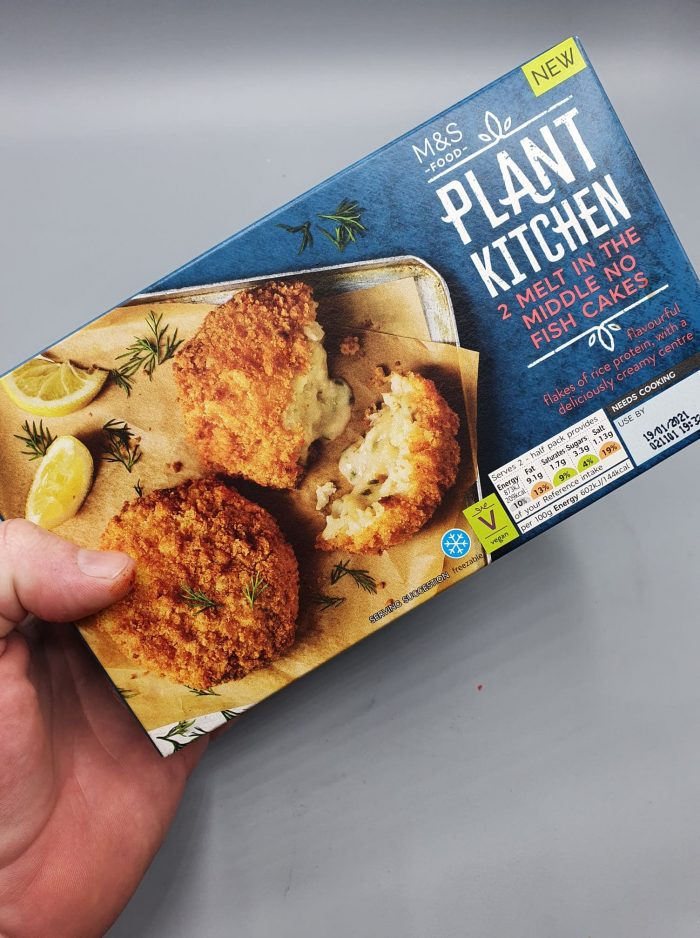 M&S Plant Kitchen 2 Melt In The Middle No Fish Cakes