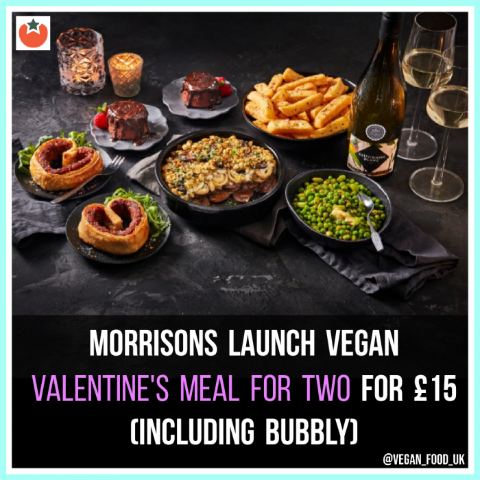 Morrisons Launch Vegan Valentine's Meal For Two
