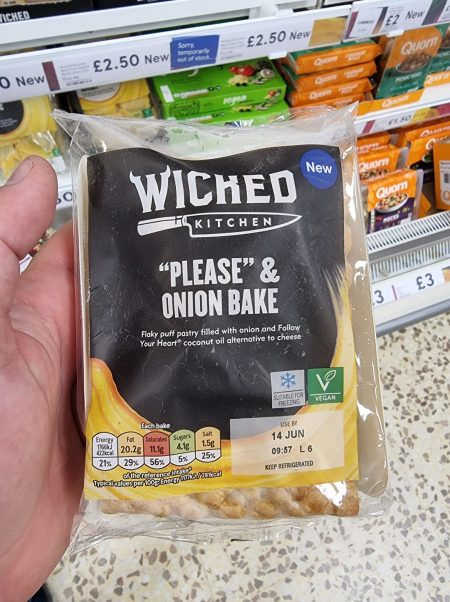 New Wicked Kitchen Cheese and Onion Pasty