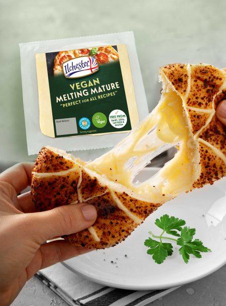 Ilchester Vegan Melting Mature Pack Shot & Use In Food