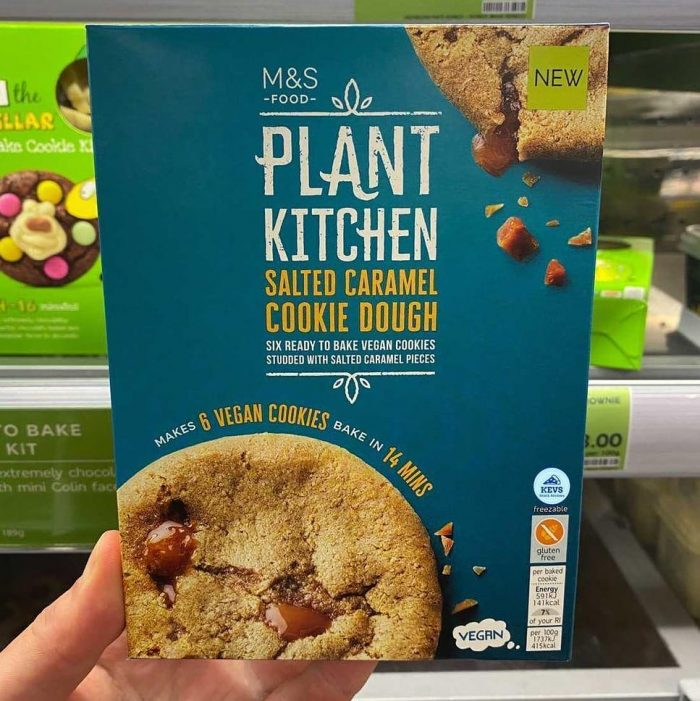 M&S Plant Kitchen Salted Caramel Cookie Dough