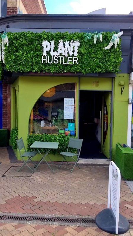 front of the Plant Hustler cafe