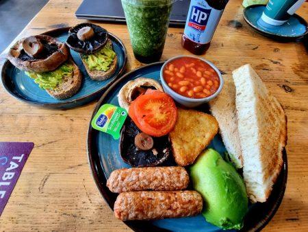 plate of vegan breakfast