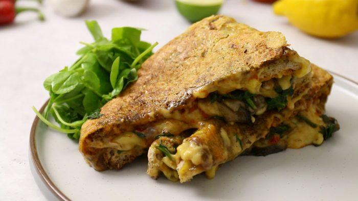 Vegan Pesto Pizza Grilled Cheese