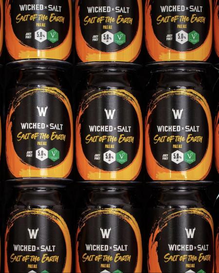 Wicked X SALT beer cans