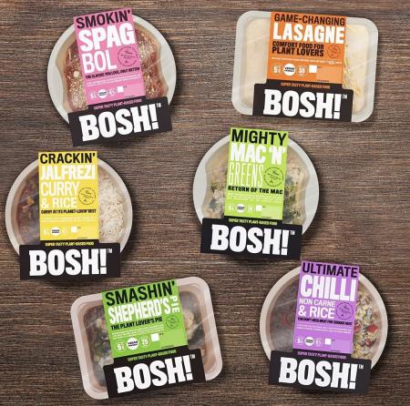 BOSH ready meals in packaging