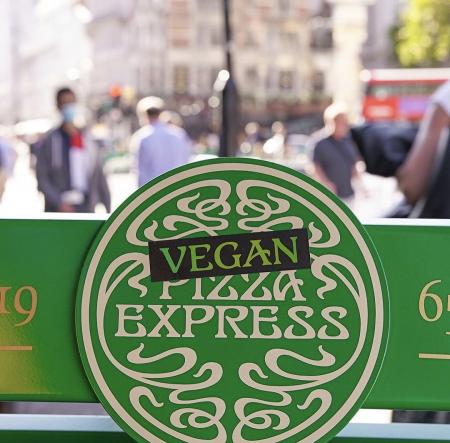 Vegan pizza express sign