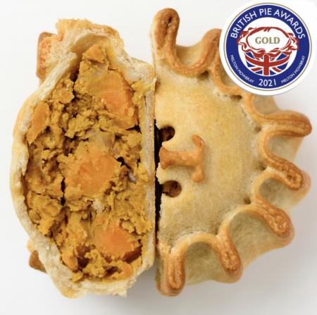 Cut open pie