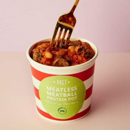 Pret Meatless Meatball Protein Pot