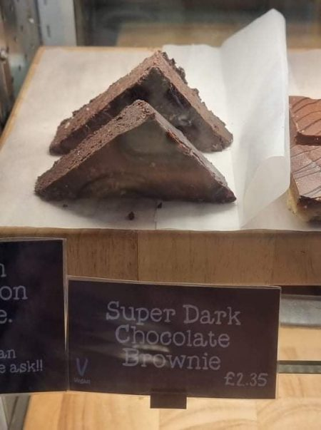 brownie in cabinet display