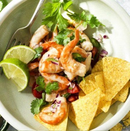 Vegan shrimp in bowl